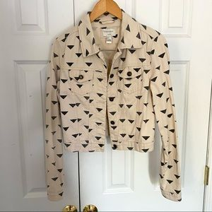 Geo Print Denim Jacket by Forever 21 S triangles